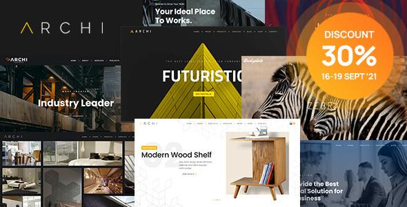 Wondrous Archi - Interior Design & Multi-Purpose Website Template