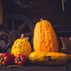 Still life. Autumn harvest. Vintage cart full with freshly picked vegetables - PhotoDune Item for Sale