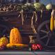 Autumn harvest. Vintage cart full with freshly picked vegetables. Still life - PhotoDune Item for Sale
