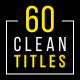 60 Clean Titles | Premiere Pro - VideoHive Item for Sale
