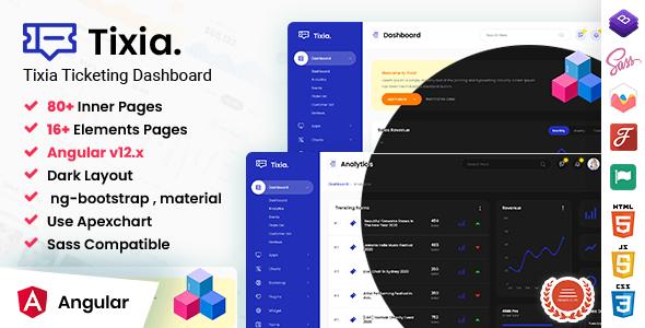 Awesome Tixia - Angular Admin Dashboard Template