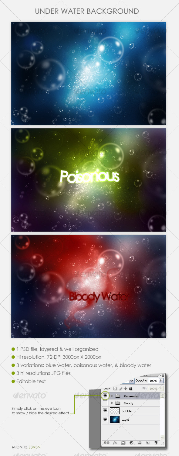 Under Water Background - Backgrounds Graphics