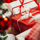 Pile of wrapped presents under the Christmas tree - PhotoDune Item for Sale