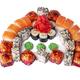 Closeup image of sushi rolls isolated at white background - PhotoDune Item for Sale