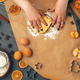 Woman's hands preparing dough for cookies close up - PhotoDune Item for Sale