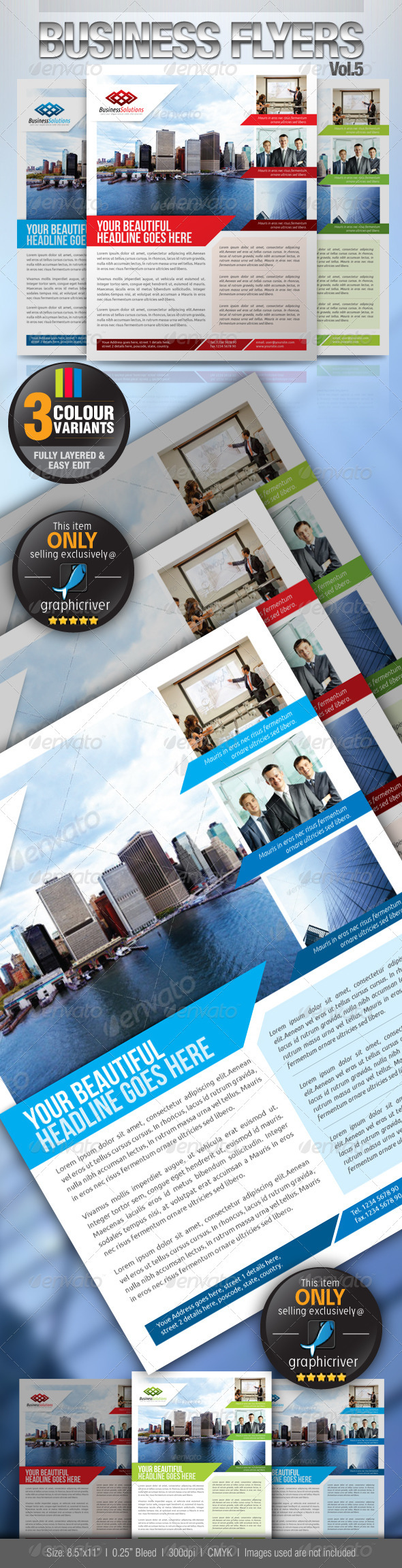Simple & Clean Corporate Flyer Vol.5 - Corporate Flyers