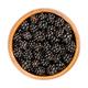European blackberries, ripe wild brambles, in a wooden bowl - PhotoDune Item for Sale