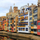 Colorful old houses on river Onyar in Girona - PhotoDune Item for Sale