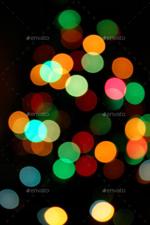 Unfocused Bright Colorful Lights Background - Stock Photo - Images