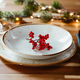 Festive table setting with winter decor. The concept of Christmas family dinner. - PhotoDune Item for Sale