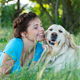 Attractive girl with dog - PhotoDune Item for Sale