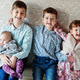 Four kids. Big happy family at home. - PhotoDune Item for Sale