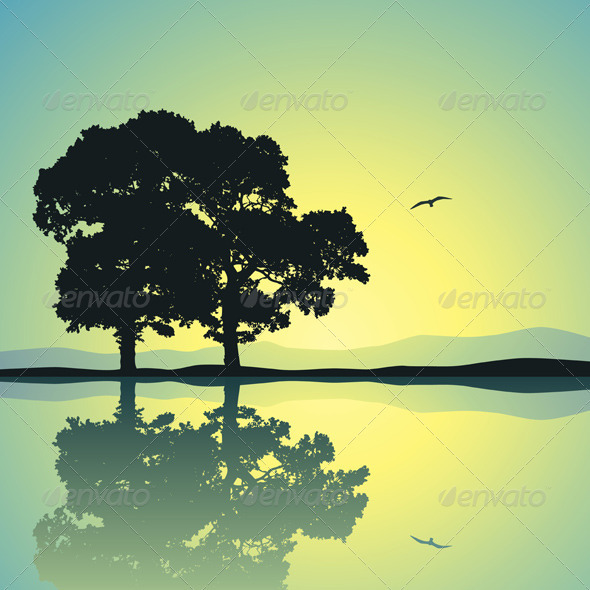 Two Trees - Landscapes Nature