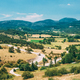Small Truck Drive In Beautiful Scenic View Landscape Near Village Of Trigance In Provence, France - PhotoDune Item for Sale