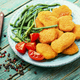Nuggets with vegetable garnish - PhotoDune Item for Sale