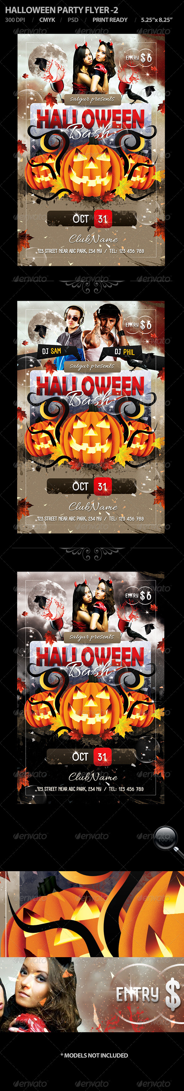 Halloween Party Flyer - 2 - Flyers Print Templates