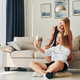 Making selfie. Female teenager with her mother is at home at daytime - PhotoDune Item for Sale