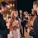 Group of people in formalwear communicating and smiling while spending time on luxury party - PhotoDune Item for Sale