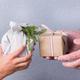 Creative zero waste Christmas concept, Japanese style furoshiki gift box - PhotoDune Item for Sale
