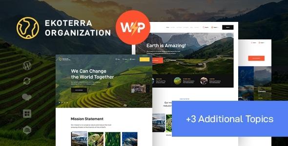 Ekoterra - NonProfit & Ecology WordPress Theme