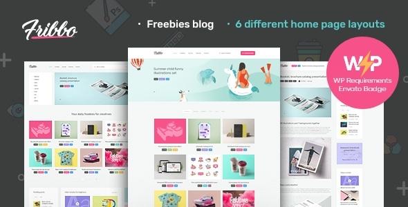 Fribbo - Freebies Blog WordPress Theme