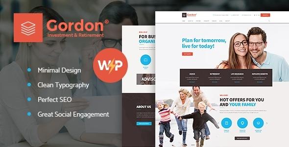 Gordon | Investments & Insurance Company WordPress Theme