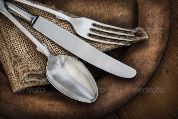 Vintage Silverware - Stock Photo - Images