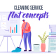 Cleaning service - Flat Concept - VideoHive Item for Sale