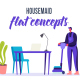 Housemaid - Flat Concept - VideoHive Item for Sale