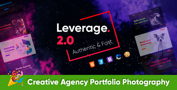 Beautiful Leverage - Bootstrap Template for Agency