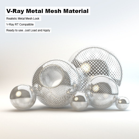 V-Ray Metal Mesh Material - 3DOcean Item for Sale