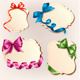 Set of beautiful cards with colorful gift bows wit - GraphicRiver Item for Sale