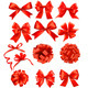 Big set of red gift bows with ribbons - GraphicRiver Item for Sale