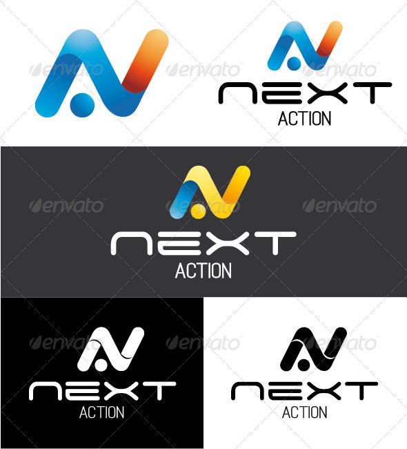 Next Action Logo - Letters Logo Templates