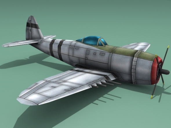 Republic P-47 Thunderbolt - 3DOcean Item for Sale