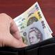 Romanian money in the black wallet - PhotoDune Item for Sale