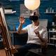 Senior artist using vr glasses for virtual inspiration - PhotoDune Item for Sale