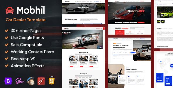 Mobhil - Car Dealer Bootstrap 5 HTML Template