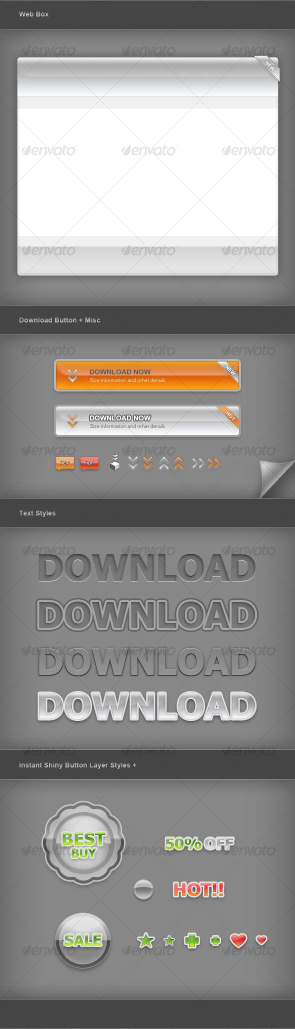 Web Graphic Elements 01 - Miscellaneous Web Elements