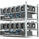 Mining farm from graphics cards GPU standing in a row isolated on white . - PhotoDune Item for Sale