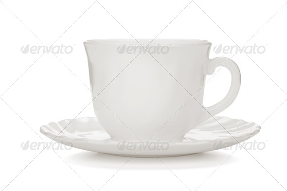 Tea cup with saucer - Stock Photo - Images