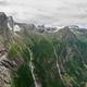 Views of peaks, waterfalls and Oldevatnet lake from Kattanakken, Norway. - PhotoDune Item for Sale