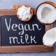 Chalk board and vegan powdered coconut milk, horizontal - PhotoDune Item for Sale