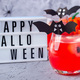 Halloween cocktail with red bubble drink and eyes made from lychee and blueberry, light box - PhotoDune Item for Sale