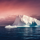 The huge iceberg on the colorful sky background - PhotoDune Item for Sale