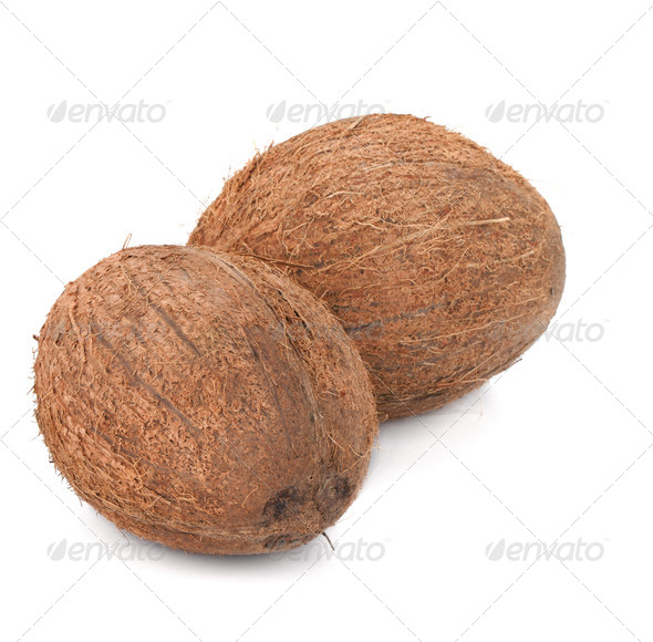 Two coconuts - Stock Photo - Images