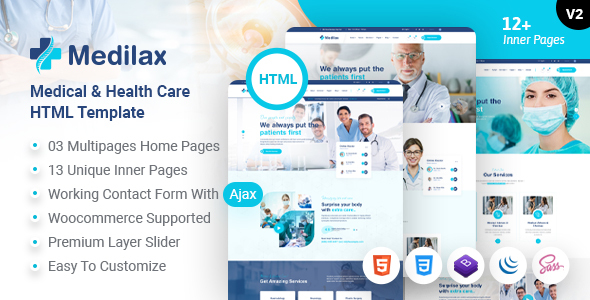 Fabulous Medilax - Medical Doctor & Health Care Pharmacy HTML Template