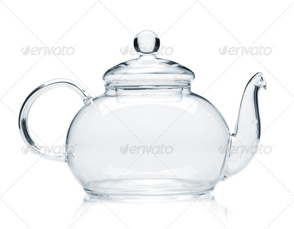 Empty glass teapot - Stock Photo - Images