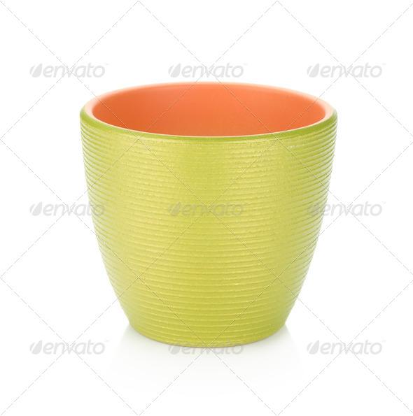 Green flowerpot - Stock Photo - Images