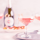 Champagne or wine in glasses on light background. - PhotoDune Item for Sale